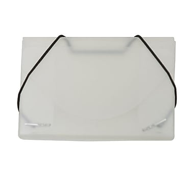 JAM Paper® Plastic Business Card Case, Clear Frost, Sold Individually (3637141)