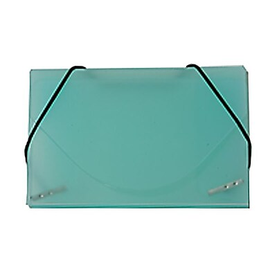 JAM Paper® Plastic Business Card Case, Green Frosted, Sold Individually (2500 012)