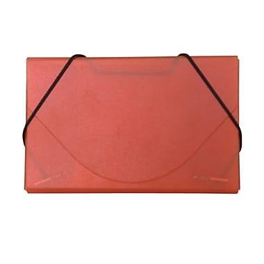 Jam PaperMD – Étui pour cartes professionnelles en plastique givré avec rabat rond, orange, 5/paquet