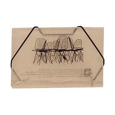 JAM Paper® Plastic Business Card Case, Chairs Design Black/Clear, Sold Individually (236618972)