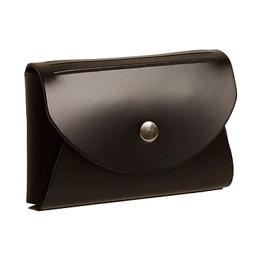 Jam Paper® Leather Business Card Case With Round Flap, Black