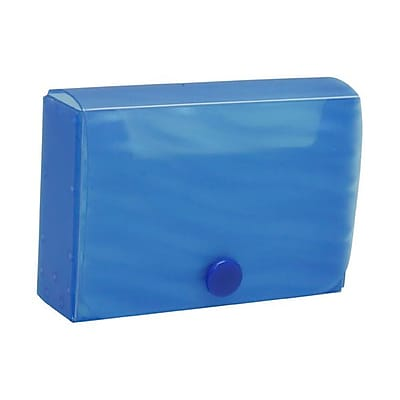 JAM Paper® Plastic Business Card Case with Snap Closure, Blue Wave, Sold Individually (245012470)