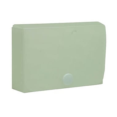 JAM Paper® Plastic Business Card Case with Snap Closure, Clear Wave, Sold Individually (245012471)