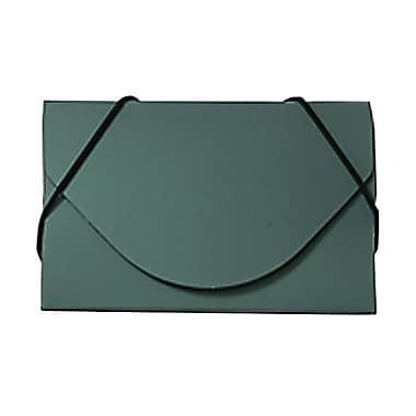 Jam PaperMD – Étui pour cartes professionnelles en plastique avec rabat rond, vert métallique, 5/paquet