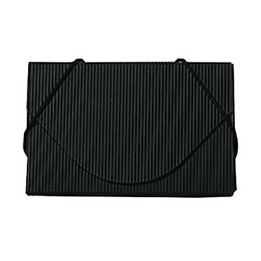 Jam PaperMD – Étui pour cartes professionnelles en plastique avec rabat rond, noir nervuré, 5/paquet