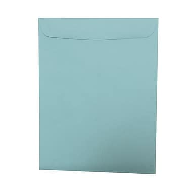 JAM Paper® 10 x 13 Open End Catalog Envelopes, Aqua Blue, 100/Pack (31287539g)