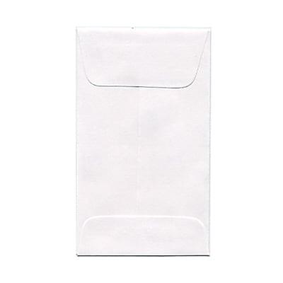 JAM Paper® #3 Coin Envelopes, 2.5 x 4.25, White, 1000/carton (01623183B)