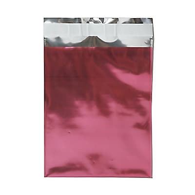 JAM Paper® Foil Envelopes with Self Adhesive Closure, 6 1/4 x 7 7/8, Open End, Pink, 25/pack (1323276)