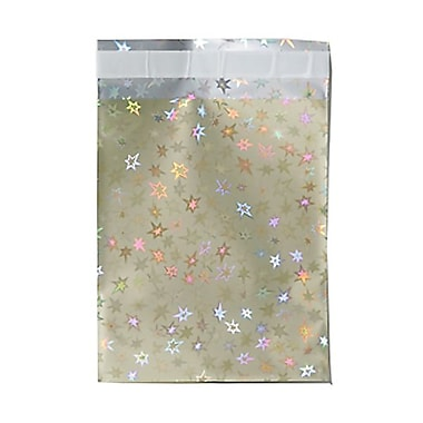 JAM Paper® Foil Envelopes, 6 1/4 x 7 7/8, Gold Stars, 25/pack (1333326)