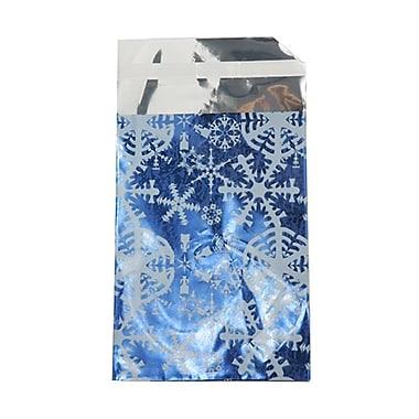 JAM PaperMD – Enveloppe ouverte au bout avec revêtement intérieur et rabat droit, 7 x 9 1/2 po, bleu/blanc neige, 100/pqt