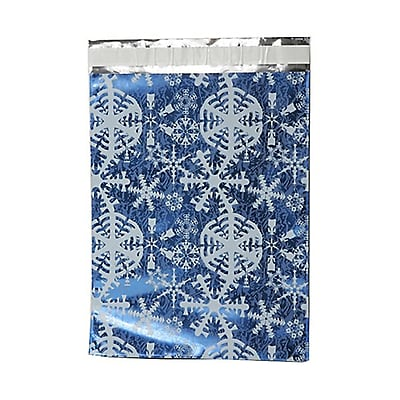 JAM Paper® Foil Envelopes, 9 x 12, Blue Winter White Snowflake, 25/pack (1333310)