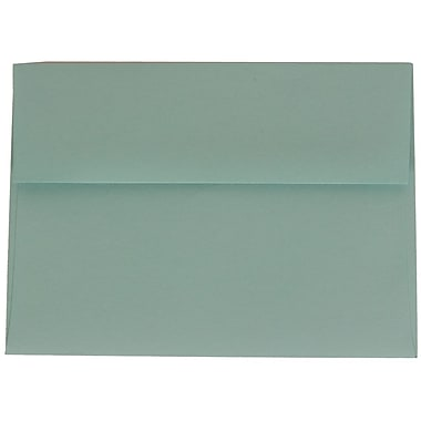 JAM Paper® A7 Invitation Envelopes, 5.25 x 7.25, Aqua Blue, 100/Pack (1523985g)