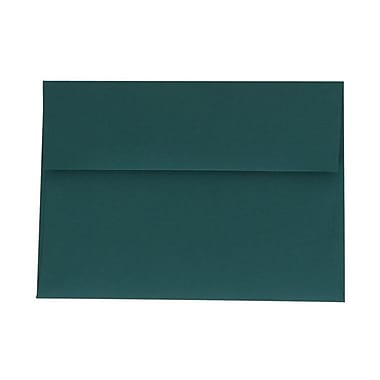 JAM Paper® A7 Invitation Envelopes, 5.25 x 7.25, Teal Blue, 100/Pack (21517152g)