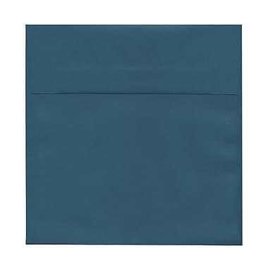 JAM PaperMD – Enveloppes carrées à rabat droit avec fermeture gommée, 8 1/2 x 8 1/2 po, sarcelle, 25/paquet