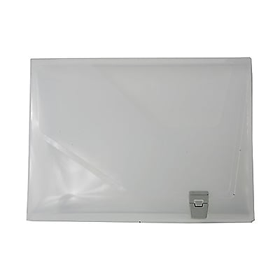 JAM Paper® Plastic Box Portfolio with Side Buckle - 9 3/4