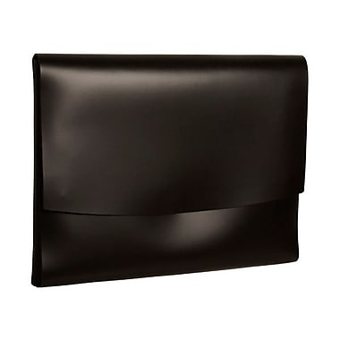 JAM Paper® Italian Leather Portfolio With Snap Closure, 10.5 x 13 x 0.75, Black, 12/Pack (2233317452B)