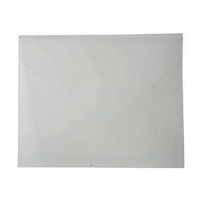 JAM Paper® Plastic Portfolio with Tuck Flap Closure - Letter Booklet - 9 1/2
