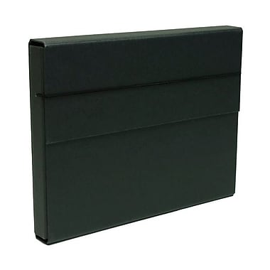 JAM Paper® Heavy Duty Chipboard Portfolios With Elastic Closure, 10 x 13.25 x 1.25, Black, 2/Pack (2154512315g)