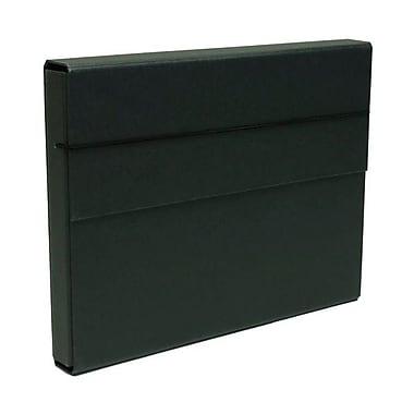 JAM Paper MD – Porte-document robuste en carton renforcé avec fermeture à élastique, 10 x 13 1/4 x 1 1/4 po, noir, paquet de 2