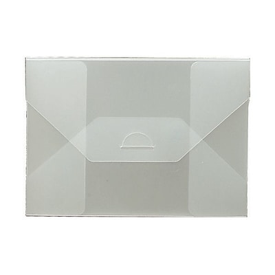 JAM Paper® Plastic Portfolio Envelopes with Tuck Flap Closure - Medium - 5 1/2