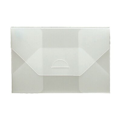 JAM Paper® Plastic Portfolio Envelopes with Tuck Flap Closure - Small - 4 1/4