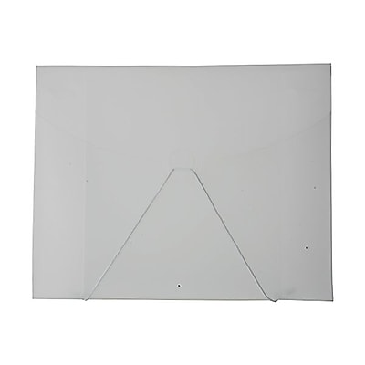 JAM Paper® Plastic Portfolio with Hook Closure, Large, 9 1/2 x 12 x 1/4, Clear, Sold Individually (2025 009)