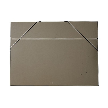 JAM Paper® Kraft Chipboard Portfolio, Elastic Closure, Jumbo, 14.5 x 19.5 x 0.5, Kraft, 2/Pack (6103 201g)