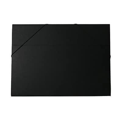 JAM Paper® Kraft Chipboard Portfolio, Elastic Closure, Jumbo, 14.5 x 19.5 x 0.5, Black Kraft, Sold Individually (6103 202)