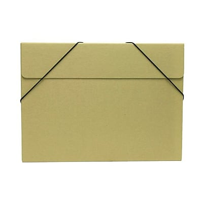 JAM Paper® Kraft Chipboard Portfolio, Elastic Closure, Large, 11 x 15 x 3/8, Brown Kraft, Sold Individually (6102 201)