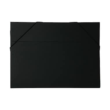 JAM Paper® Kraft Chipboard Portfolio, Elastic Closure, Large, 11 x 15 x 3/8, Black Kraft, Sold Individually (6102 202)