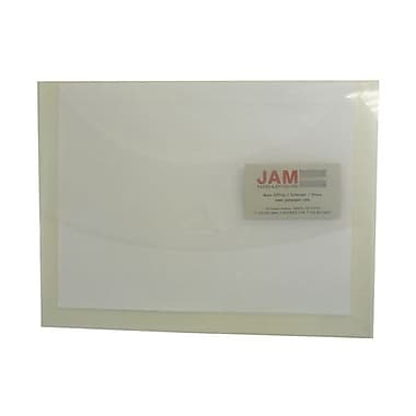 JAM Paper® Stiff Plastic Envelope File with Tuck Flap Closure, 9.5 x 12.5, Clear Frost, 120/carton (SE313B)