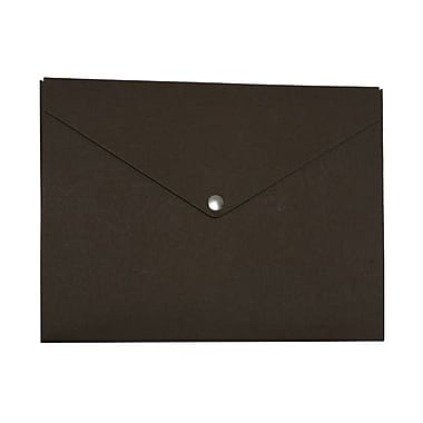 JAM Paper® Plastic Portfolio with Snap Closure, Medium, 9.25 x 12.25 x 0.5, Recycled Brown Kraft, Sold Individually (BRCF3E)