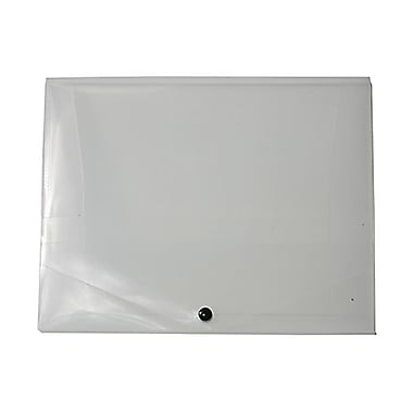 JAM Paper® Plastic Portfolio with Snap Closure, Medium, 10 x 12.5 x 0.75, Clear, Sold Individually (2000001)