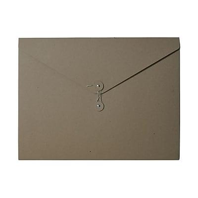 JAM Paper® Kraft Chipboard Portfolio, Button and String Tie Closure, Jumbo, 12.5 x 16.5 x 0.5, Natural Kraft, 1/pk (3039 201)