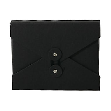 JAM Paper® Portfolio with Button and String Closure, Small, 5.25