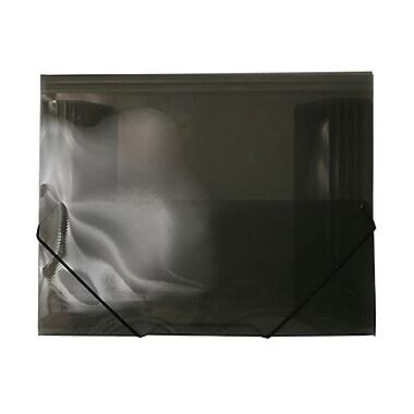 JAM PaperMD – Étui en plastique pour feuilles avec fermeture à élastique, 9 1/2 po x 12 3/8 po, fumée, paquet de 4