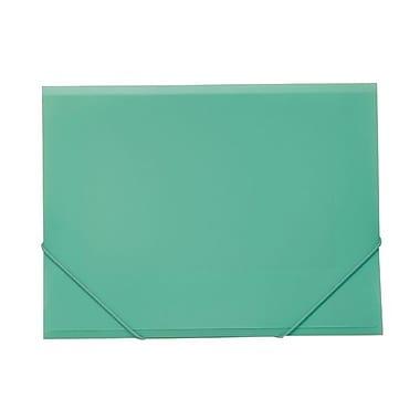 JAM PaperMD – Étui en plastique pour feuilles avec fermeture à élastique, 9 1/2 po x 12 3/8 po, vert pâle,