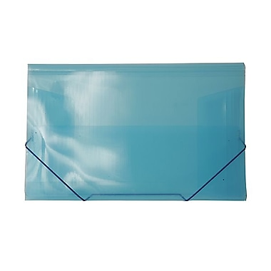 JAM Paper® Plastic Paper Holder Action Case With Elastic Closure, 9 1/2 x 12 3/8, Blue, Sold Individually (332536)