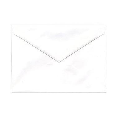 JAM Paper® 4bar A1 Envelopes, 3.63 x 5 1/8, White with V-Flap, 1000/Pack (04023204B)