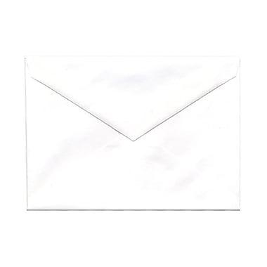 JAM Paper® 4bar A1 Envelopes, 3.63 x 5 1/8, White with V-Flap, 250/Pack (4023204g)