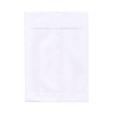 JAM Paper® Open End Straight Flap Envelopes with Gummed Closure, 12