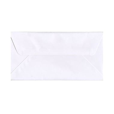 JAM Paper® #16 Wallet Flap Booklet Envelopes with Wallet Flap, 6 x 12, White, 100/Pack (1633178g)