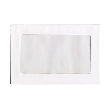 JAM Paper® 9 x 12 Booklet Window Display Envelopes, White, 100/Pack (0223932B)