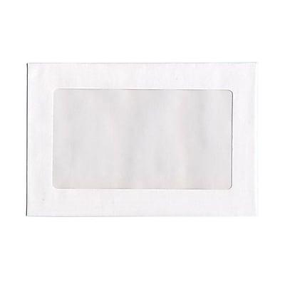 JAM Paper® 9 x 12 Booklet Window Display Envelopes, White, 100/Pack (0223932B)