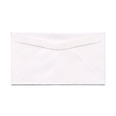 JAM Paper® #6 3/4 Commercial Envelopes, 3 5/8 x 6 1/2, White, 1000/carton (01633983B)