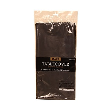 JAM Paper® Plastic Table Covers, Black Table Cloths, Sold Individually (291423352)