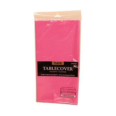 JAM Paper® Plastic Table Covers, Fuchsia Pink Table Cloths, Sold Individually (291423355)
