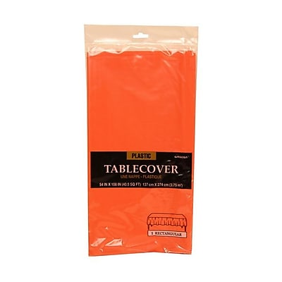 JAM Paper® Plastic Table Covers, Orange Table Cloths, Sold Individually (291423358)