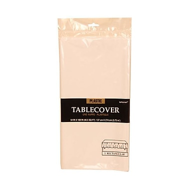JAM Paper® Plastic Table Covers, White Table Cloths, Sold Individually (291423361)