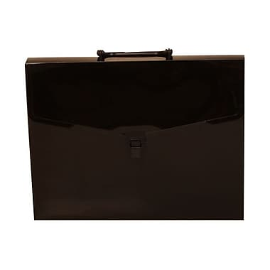 JAM Paper® Business Portfolio Case with Handles, 10 x 13 x 1.5, Black, 2/Pack (279121950g)